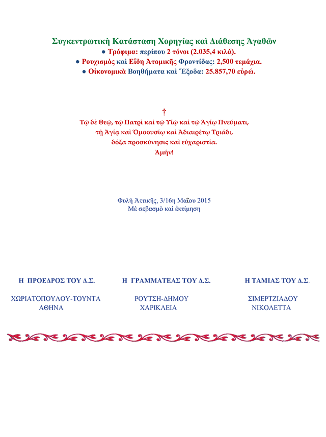 Πεπραγμένα Α΄ Τριμήνου 2015-2
