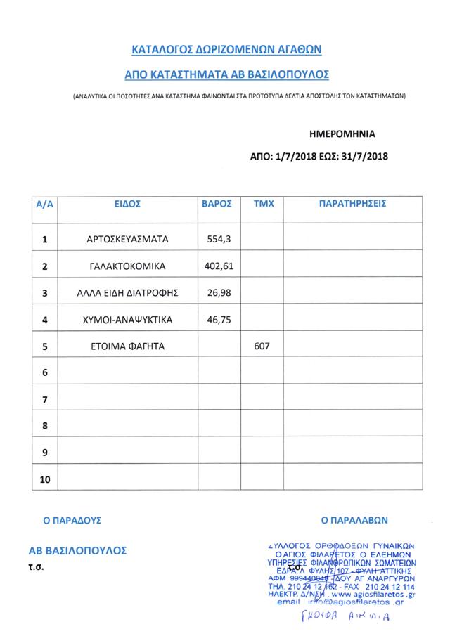 1-31.7.2018 Vasilopoulos